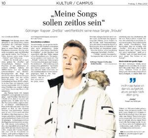 Dresta in Göttinger Tageblatt (2021)